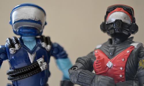 Silver masked buddies: Cobra Motor Viper and Strato-Viper.
