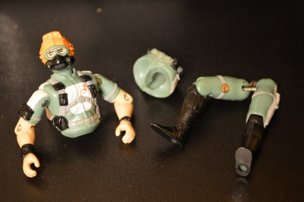 This broken G.I. Joe isn't doing so good.