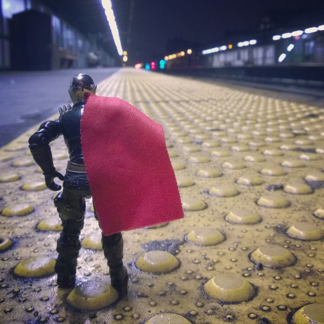Destro waits for the subway.