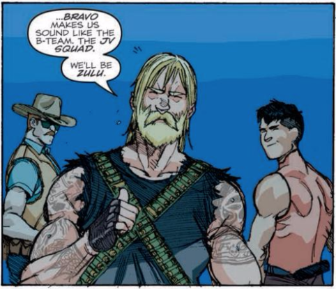Rock 'n Roll is centerstage in 'G.I. Joe: Revolution' issue 1, seen here with Quick Kick (right) and Wild Bill.